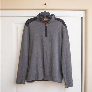 Bugatchi uomo Quarter ZIP Pullover Sweater